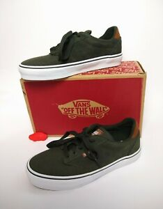 Vans Men's Atwood Deluxe (Woven Check) Olive/White - Deluxe ...