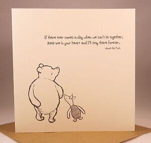 Winnie The Pooh Birthday Card Husband Boyfriend Wife Girlfriend