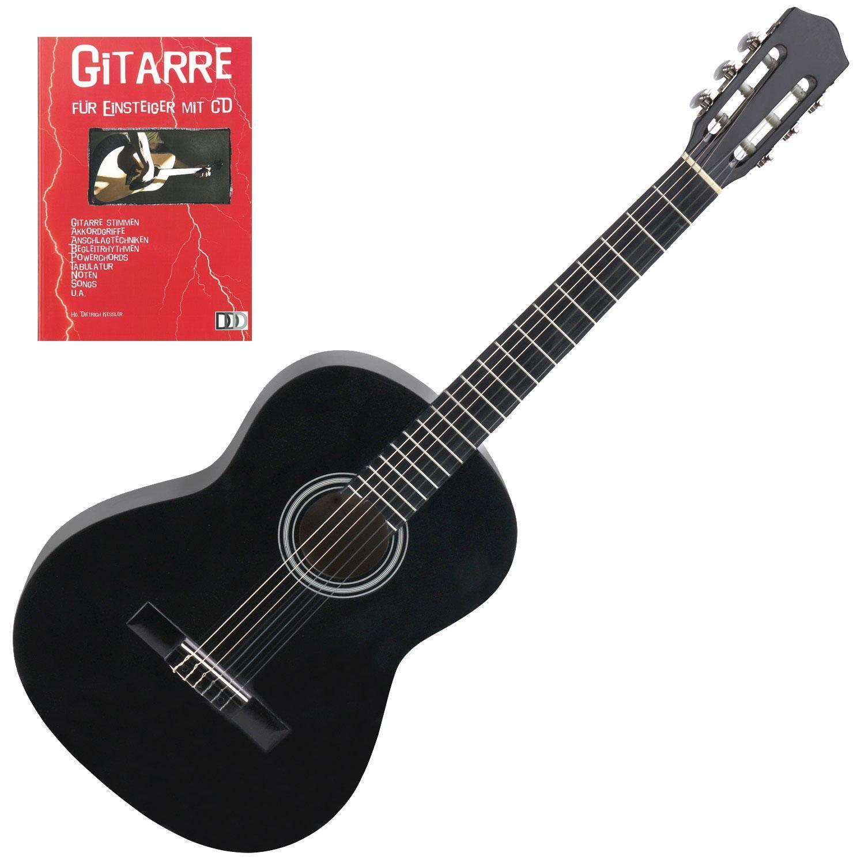 1 2 Akkustikgitarre Westerngitarre Klassikgitarre Schwarz Notenheft Lernen CD