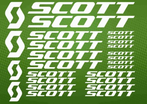 SCOTT Vinyl decals for Bicycle bike frame Sticker Cycle mtb road Cycling powder