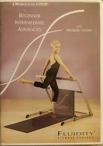 Fluidity Fitness Evolved 3 Workouts on 1 DVD Beginner Intermediate Advance fr/sh
