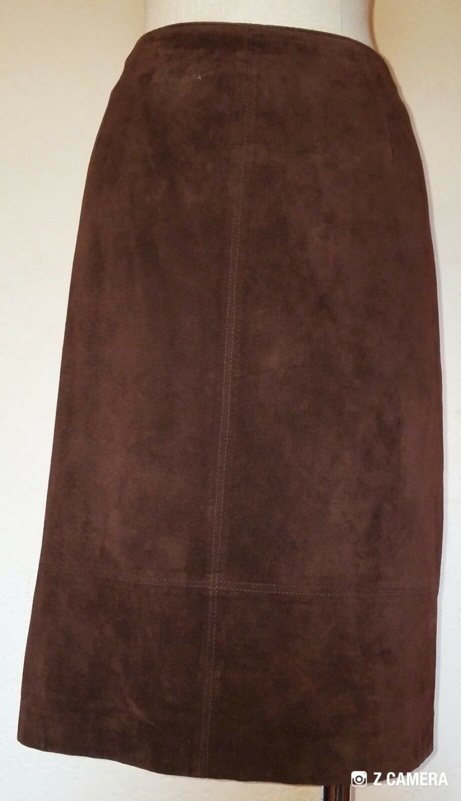 Vintage Chocolate Brown Suede Skirt Size 12 Lord and Taylor