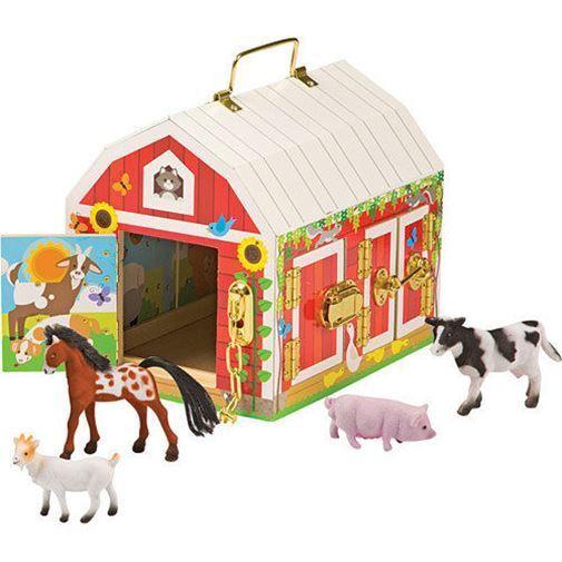 Melissa & Doug Loquets Grange 3+ éducatif bois ferme jouet