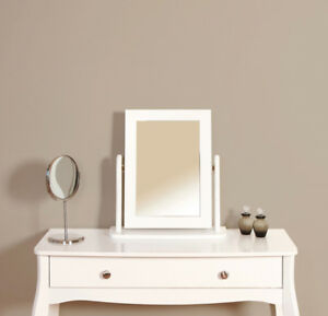 Lyon French Style White Vanity Mirror For Dressing Table