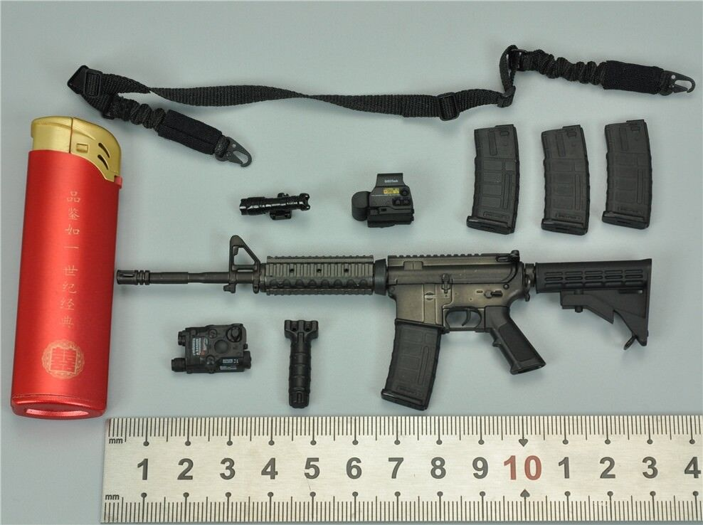 M4A1 Assault Rifle Set for Dam 78050 Navy Commanding Officer 1/6 Scale Action