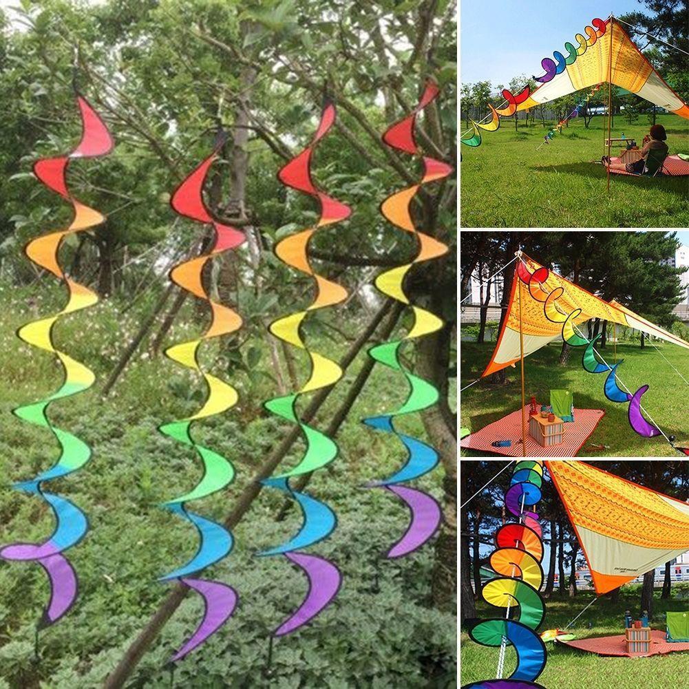 Rainbow Wind Spinner Art Windsock Colorful Garden Yard Outdoor Decor Y2