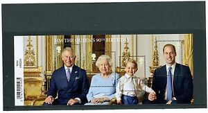 GB-2016-HM-Queen-039-s-90th-Birthday-Miniature-Sheet-Mint-Stamp-With-Barcode-HMQ90