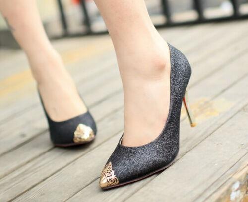 Stöckelabsatz Black Frau Dekolleté 8405 silber gold Farben Gliter blau Aus Schuhe Disp Cm 4 9 XiuPkZ
