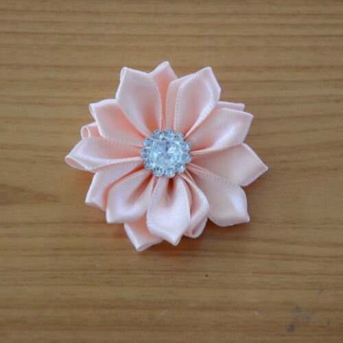 20 Pieces DIY Baby Girls Satin Flower For Headband Corsage Ribbon Bow No Clip