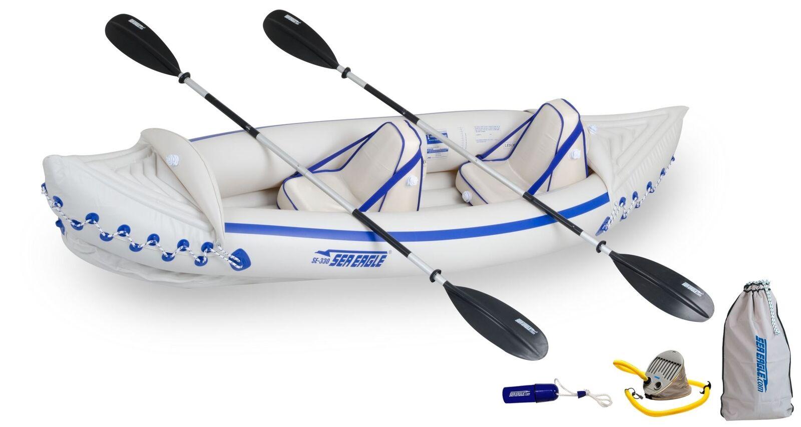 NEW Sea Eagle SE330KPT Sports Kayak Lightest  & Portable Pro Kayak for 2 Persons  exclusive designs