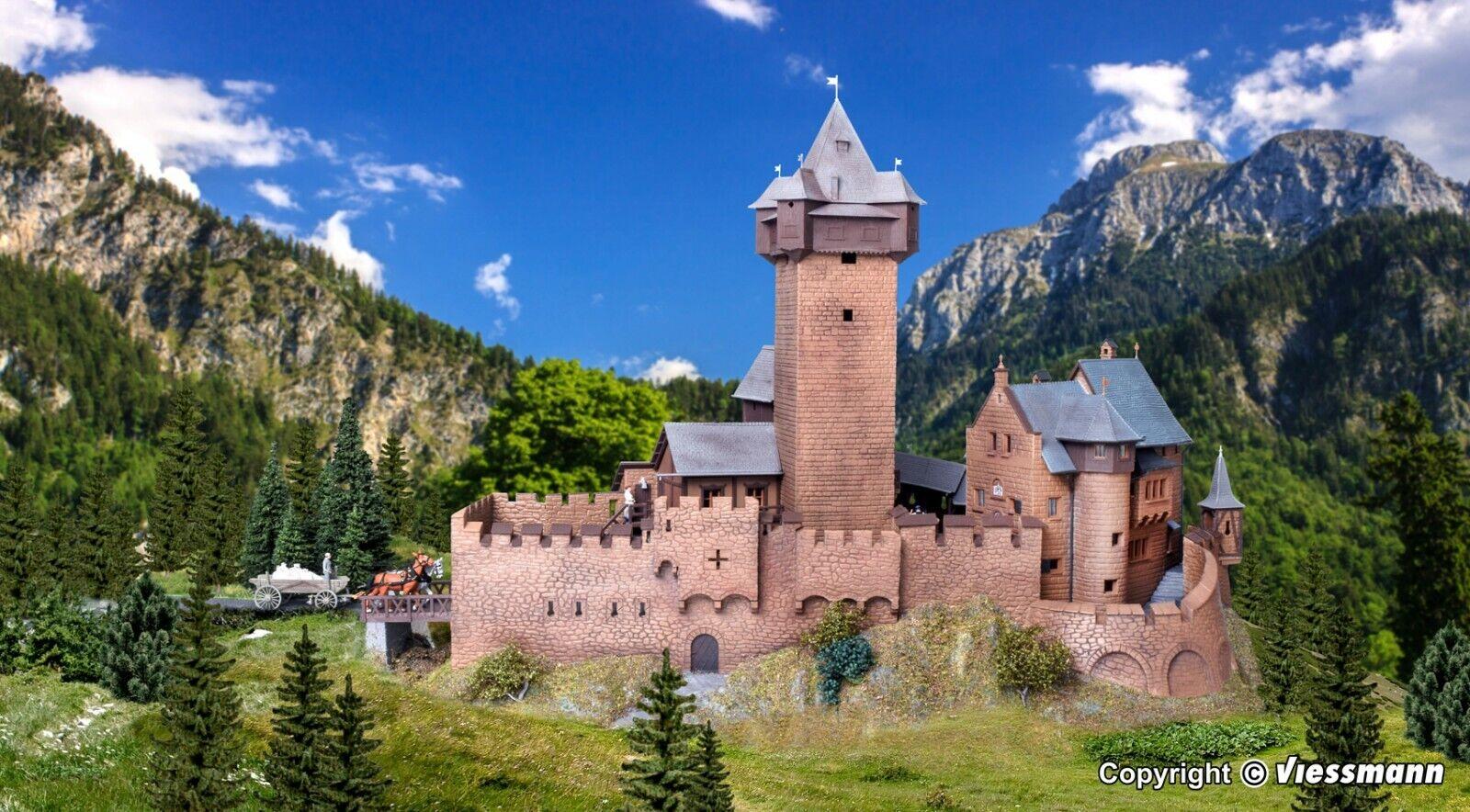 H0 39010 Kibri castillo de Falkenstein en Cocheintia nuevo embalaje original