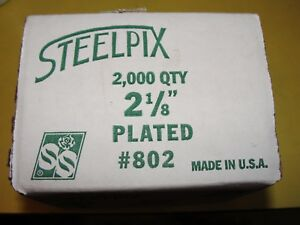 Floral-SteelPix-21-8-034-Length-2000-per-Box-Quanity-4-Boxes-Total-8000-Pix