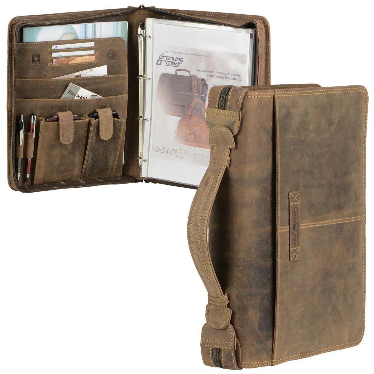 Grünburry Schreibmappe Schreibmappe Schreibmappe A4 Leder braun Vintage mit Tabletfach | Großer Räumungsverkauf  | Sorgfältig ausgewählte Materialien  | Heißer Verkauf  707e00