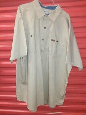 Carhartt 384-62 Tan Long Sleeve Work Shirts from Cintas LARGE //
