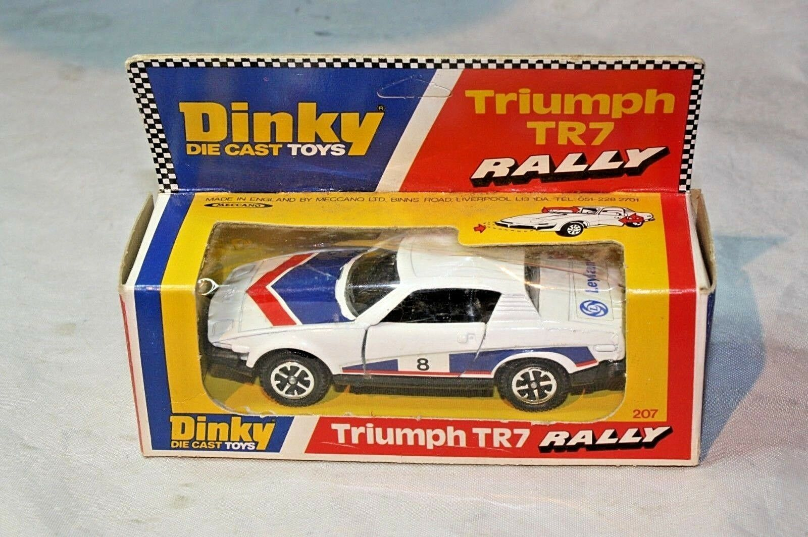 Dinky 207 Triumph TR7 Rally Car, Mint Condition in Excellent Original Box