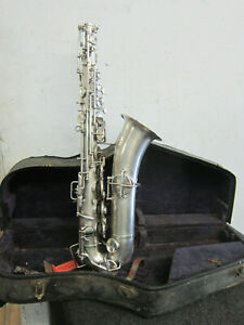 Buescher-True-Tone-Low-Pitch-Silver-Plated-Saxophone