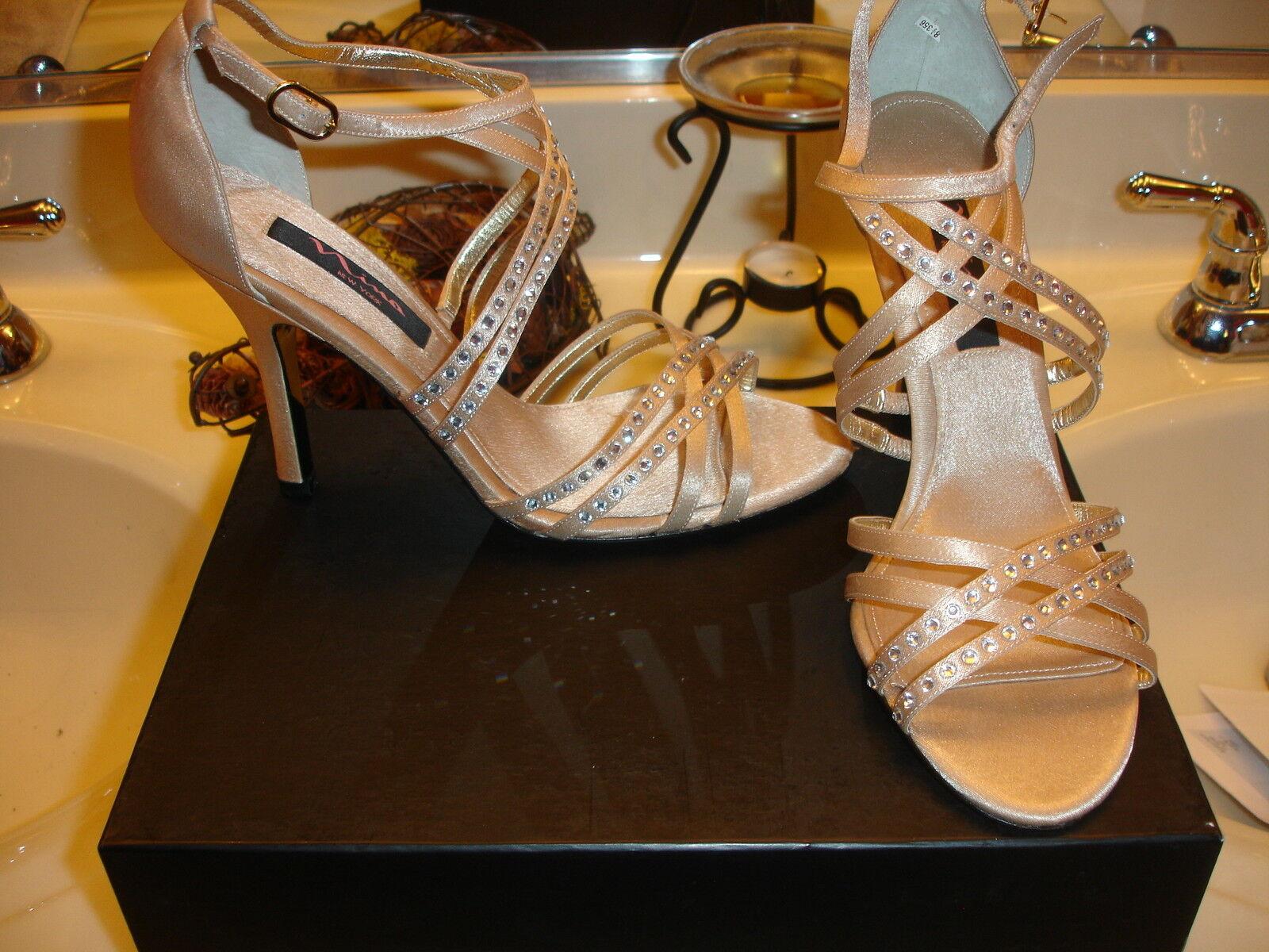 Nina crysten or Royal Satin Talon Mariage Fête chaussures Mariage Bal 8.5  100