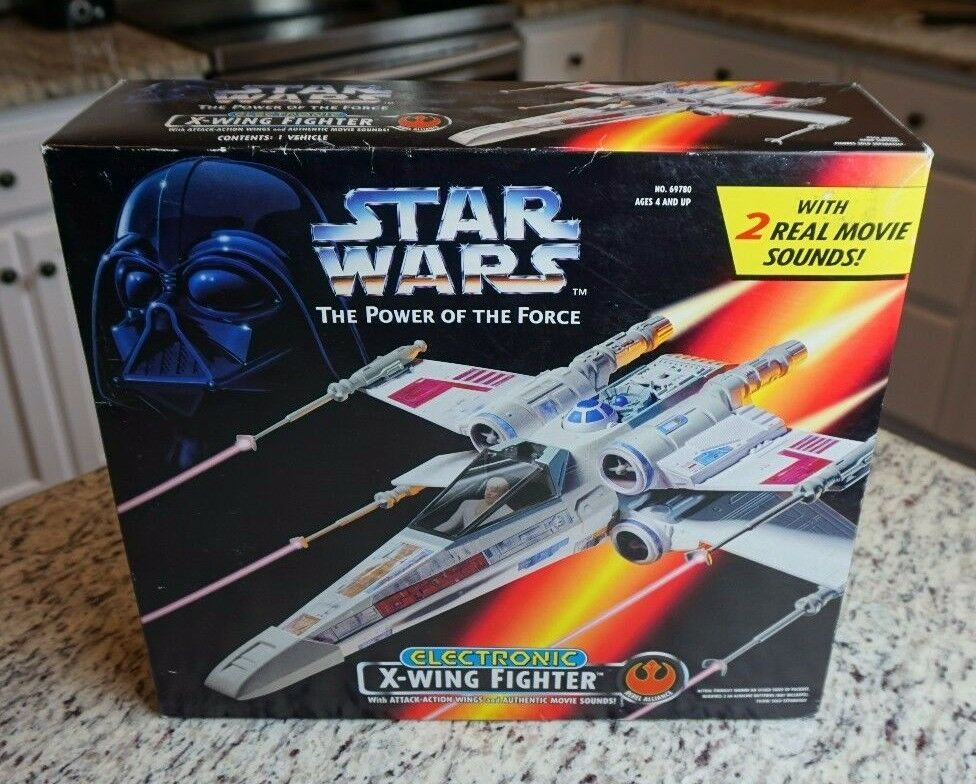 X-Wing Fighter Electronic 1995 STAR WARS Power of the Force POTF MIB NEW