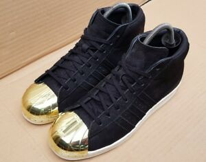 Snake Superstar Metal Trainers Rare Size Promodel Adidas In Uk Black Suede Toe 6 wXq66dY
