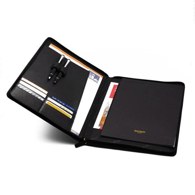 Portfolio Schreibmappe A4 Dokumentenmappe mit Schreibblock u Reißverschlussfach