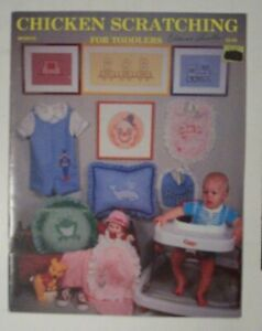 Booklet Needlepoint Embroidery Chicken Scratching for Toddlers Craft Book