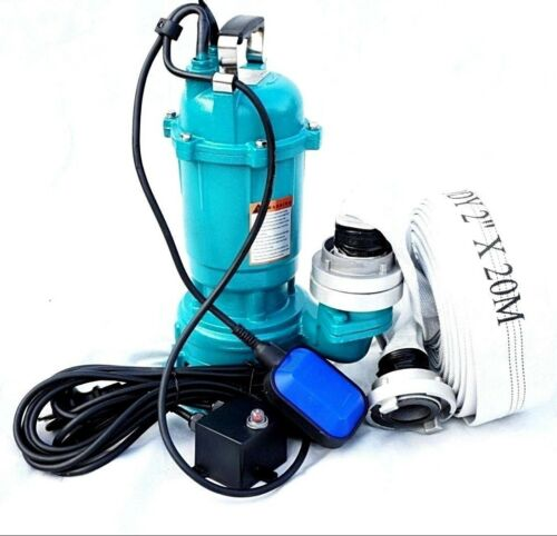 20m Hose Dirty Water Pump Faeces Pump cutting plant Float Ibo 1500W