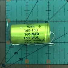 1500uF 50v Cornell Dubilier Axial Capacitor WBR1500-50 Industrial CDE Audio New