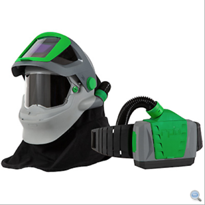 WELDING-RESPIRATOR-W-FIRE-RATED-SHOULDER-CAPE-BREATHING-TUBE-PX4-AIR-PAPR