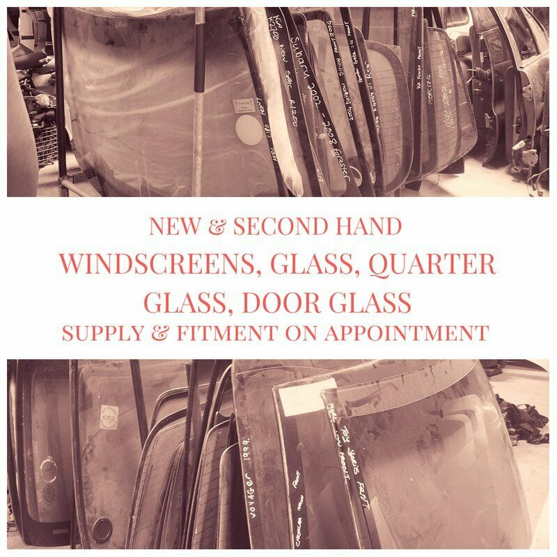 New and second hand windscreens, glass, quarter glass and door glass for most vehicles for sale