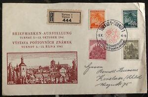 1941 Turnau Bohemia Moravia Germany First Day Cover FDC Philatelic Exhibition