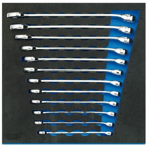 Draper Combinaison Spanner Set 1//2 tiroirs Eva Insert bac 12 Piece 63521