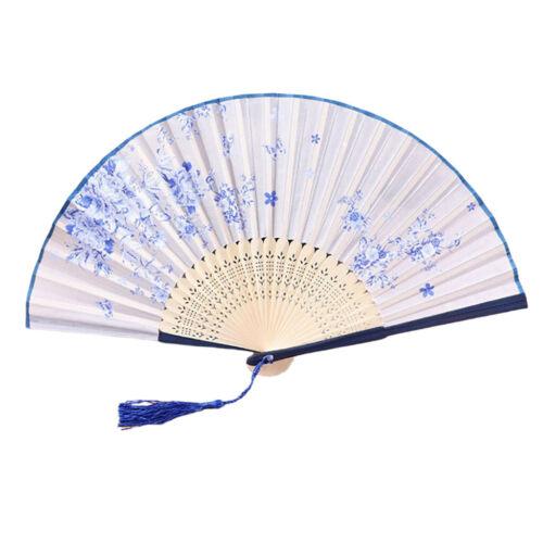 Foldable Fan Vintage Bamboo Frame Hand Fan Japanese Pocket Fan Party Favor