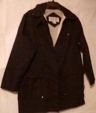 Izzi Womens Jacket Med Navy Blue Hooded Outerwear Light Weight Winter Zip Front