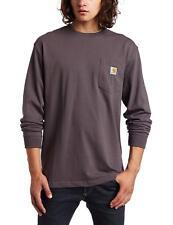 210f75b07c Carhartt Men s Workwear Pocket Long Sleeve Cotton T-Shirt Jersey Black S-2XL