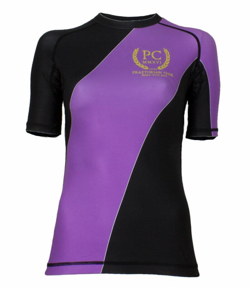 Ranked Rash Guard Short Sleeve Purple (Womens)