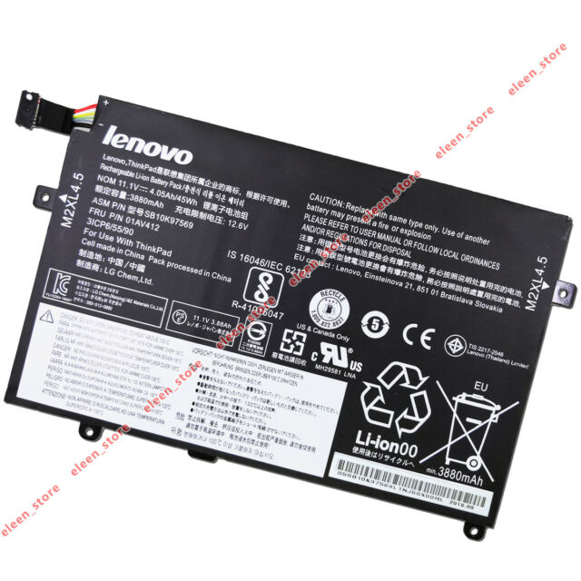 Genuine 01AV411 01AV412 Battery for Lenovo Thinkpad E470