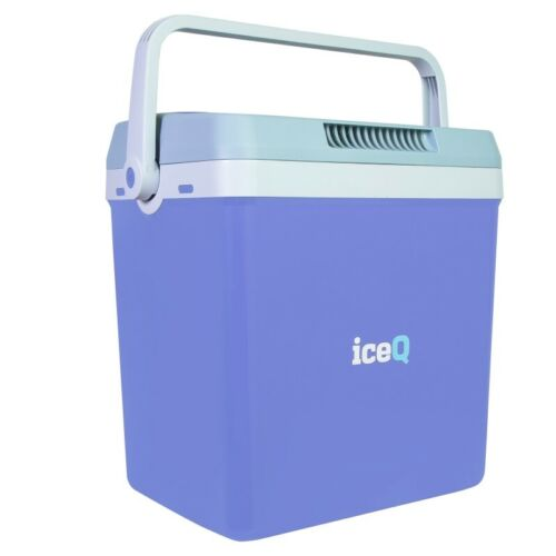 iceQ 32 Litre Electric Cool Box Blue//Red 240V AC /& 12V DC