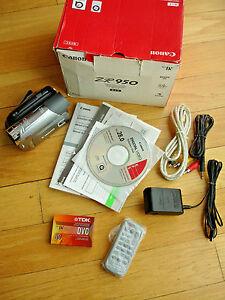canon zr950 mini dv camcorder remote software manual av ac usb rh ebay co uk Canon DVD Camcorder Used Mini DV Camcorders
