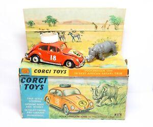 Corgi-256-Volkswagen-1200-Saloon-East-African-Safari-Beetle-In-Its-Original-Box
