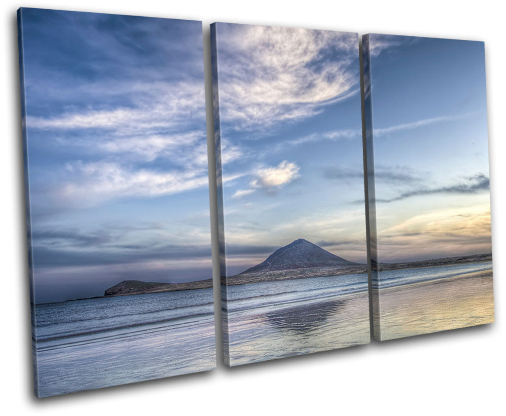 Island Seascape Beach Landscape Landscape Landscape Volcano Canvas Artwork Picture Print Wall Photo 6b378b