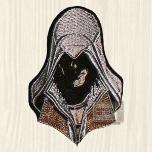 Details About Ezio Auditore Face Embroidered Patch Assassin S Creed Head Ps3 Brotherhood