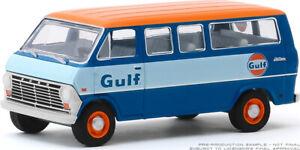 GREENLIGHT 1//64 RUNNING ON EMPTY 1968 FORD CLUB WAGON VAN GULF OIL 41100 B