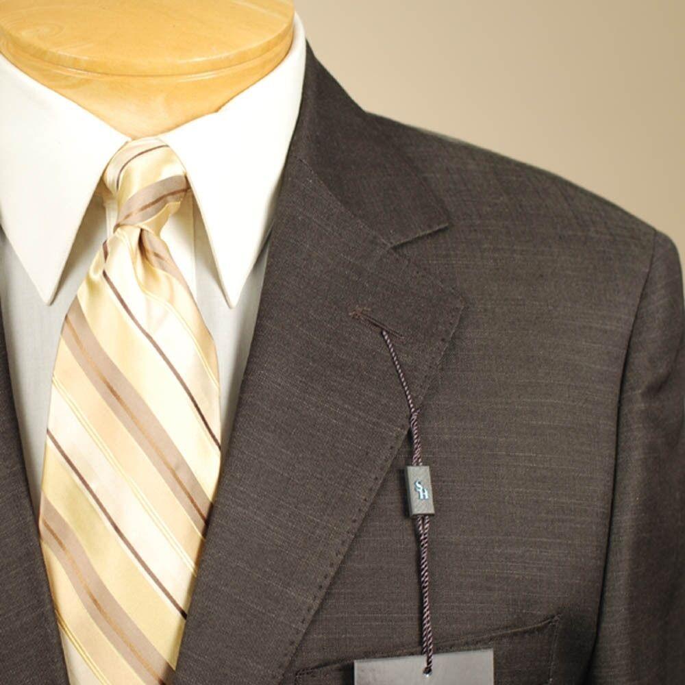 46R STEVE HARVEY Dark Braun Suit - 46 Regular  Herren Suits - SH07