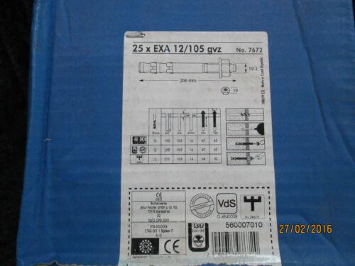 Upat EXA Express Anker Bolzenanker  12//105  Länge 206mm GVZ  25 St NEU!