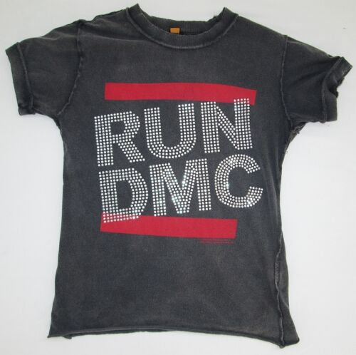 AMPLIFIED RUN DMC Strass Skirt Hip Hop Star Vintage Designer ViP TShirt S 36