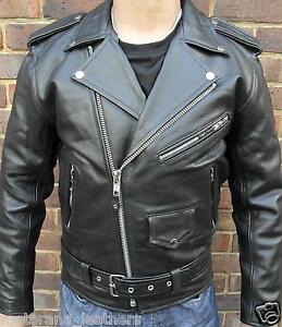 f90f4d0d9 Details about MENS BLACK ARMOUR PADDED MOTORCYCLE MOTORBIKER BRANDO  PERFECTO LEATHER JACKET