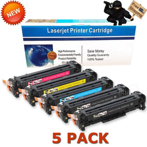 5PK CE410A Toner For HP 305A LaserJet Pro 400 Color M451dn M451nw MFP M475dw