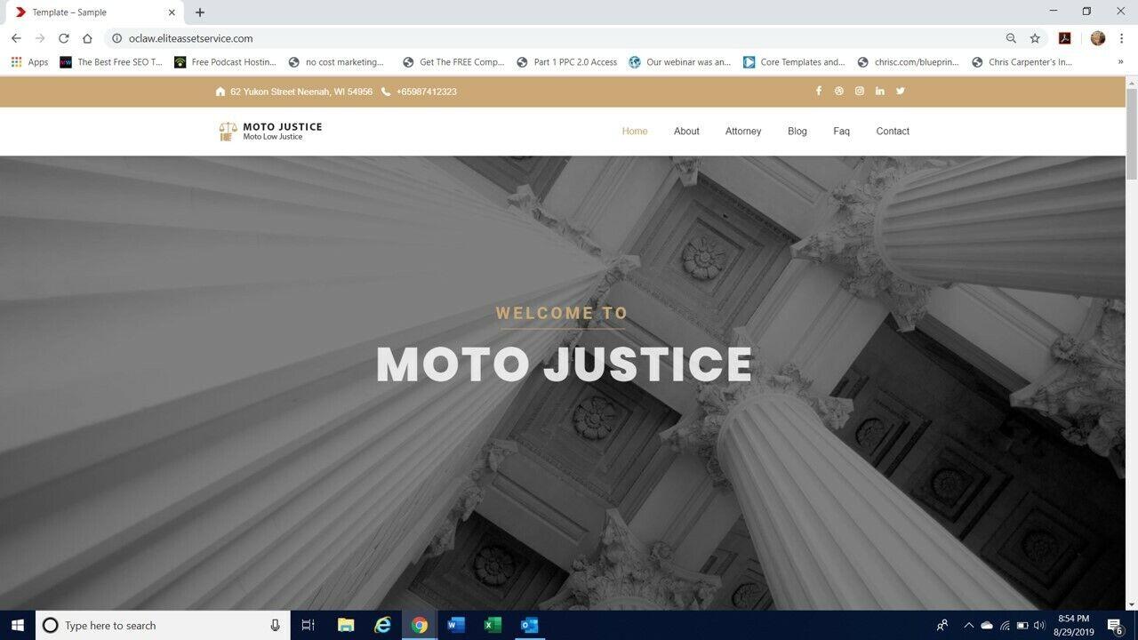 Local Business Lawyer website template wordpress theme plugin Mobile responsive 2