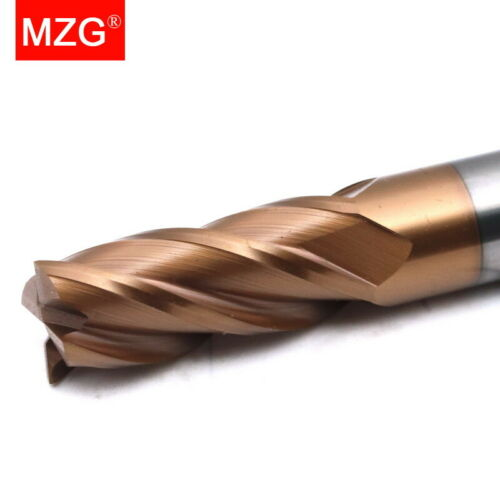 MZG 1PCS 4Flute HRC60 2mm Tungsten Steel Cutting Sprial Milling Cutter End Mill