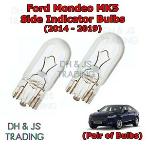 Ford Mondeo MK3 2.0 501 W5W LED Wide Angle White Side Lights Parking Bulbs XE8